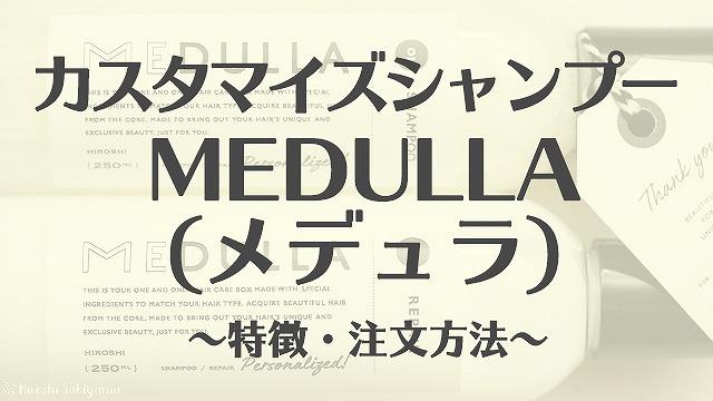 カスタマイズシャンプー MEDULA(メデュラ) ~特徴・注文方法~
