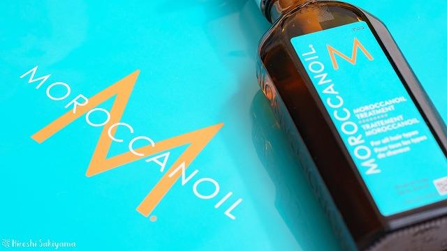 モロッカンオイルと専用袋のアップ
