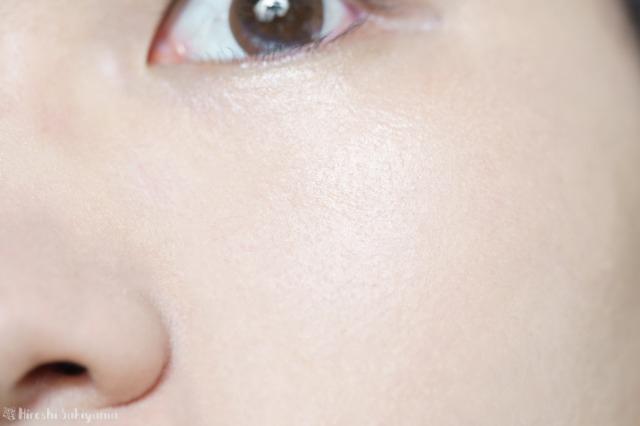 アテニア フュージョンスキンファンデーション ラスターフィニッシュを塗った直後の顔の肌